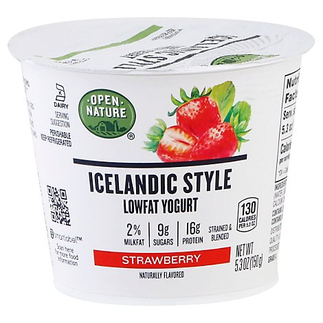 Open Nature Icelandic Yogurt Lowfat Strawberry - 5.3 Oz