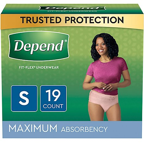 Depend Maximum Absorbency for Women Small - 19 Count