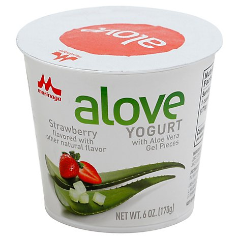 Alove Yogurt Strwbrry Aloe Vra - 6 Oz
