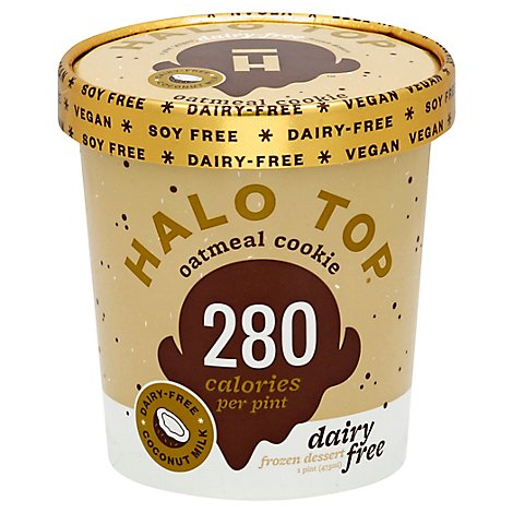 Halo Top Dairy Free Oatmeal Cookie 1 Pint - 16 Fl. Oz.