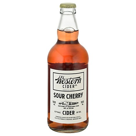 Western Cider Sour Cherry In Bottles - 16.9 Fl. Oz.