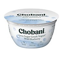 Chobani Yogurt Greek Less Sugar Wild Blueberry - 5.3 Oz
