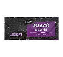 Signature SELECT Black Beans Dry - 16 Oz