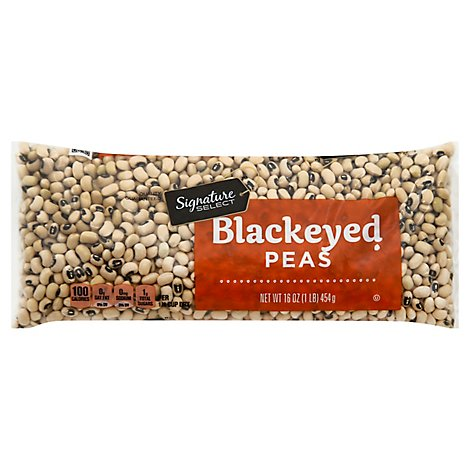 Signature SELECT Blackeye Peas Dry - 16 Oz