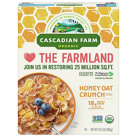 Cascade Farm Cereal Honey Oat Crunch Non Gmo Organic - 13.5 Oz