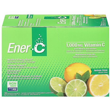 Ener C Drink Mix Lmn Lm 1000mg - 30 Piece