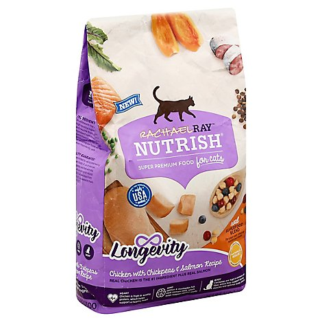 Rachael Ray Nutrish Dry Cat Food Super Premium Chicken with Chickpeas & Salmon Recipe - 3 Lb