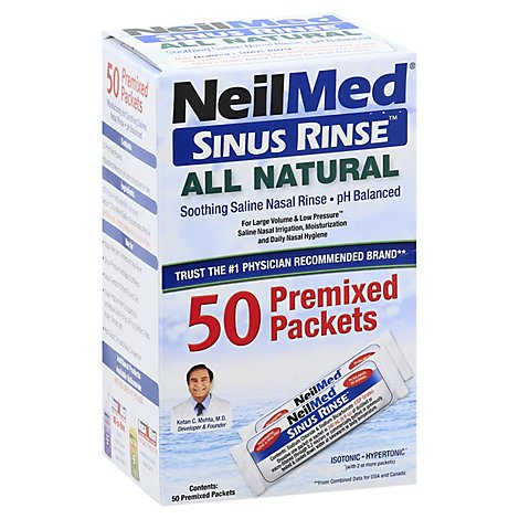 Neilmed Sinus Rinse Premixed Packets - 50 Count