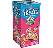 Kelloggs Rice Krispies Treats Crispy Marshmallow Squares Birthday Cake Box (14 Count) 10.9oz