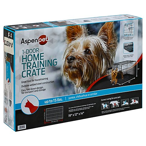 Aspen Pet Training Crate Home 1-Door Up To 15 Lb Box - Each