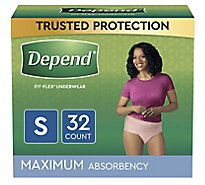 Depend Underwear for Women Maximum Absorbency Small - 32 Count