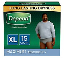 Depend Underwear for men Maximum Absorbency Extra Large - 15 Count