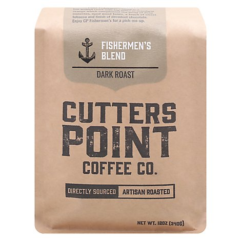 Cutters Point Fishermans Whole Bean Coffee - 12 Oz