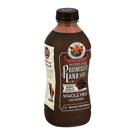 Promised Land Midnight Chocolate Whole Milk - 28 Fl. Oz.