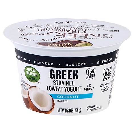 Open Nature Greek Yogurt Coconut Lowfat - 5.3 Oz