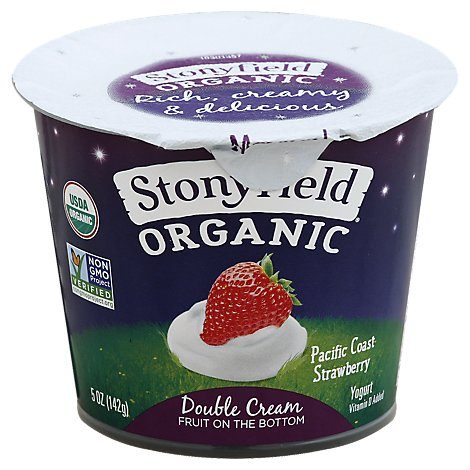 Stonyfield Farm Double Cream Straw - 5 Oz