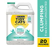 Tidy Cats Cat Litter Clumping Free & Clean For Multiple Cats Unscented Jug - 20 Lb