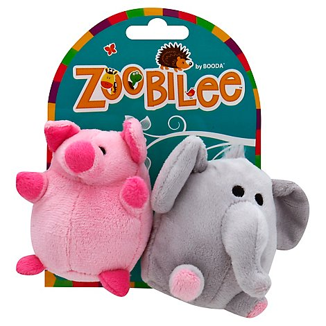 Zoobilee Dog Toy Elephant And Pig Mini - Each
