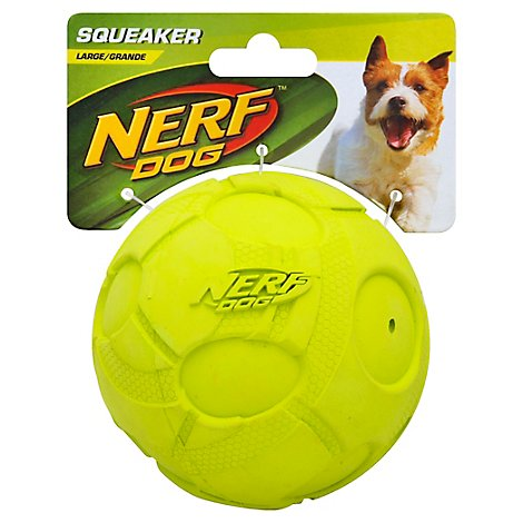 Nerf Dog Toy Squeaker Ball Large Green Card - Each