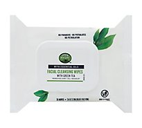 Open Nature Facial Cleansing Wipes With Green Tea Essential Oils - 25 Count