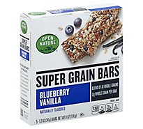 Open Nature Bars Super Grain Blubry Vanilla - 6 Oz