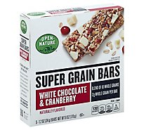 Open Nature Bars Super Grain White Chocolate & Cranberry - 6 Oz