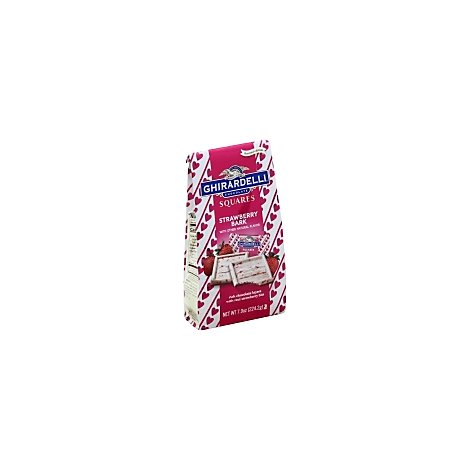 Ghirardelli Chocolate Squares Strawberry Bark Bag - 7.9 Oz