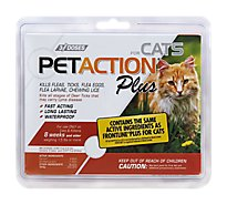 PetAction Plus Flea Control For Cats Over 1.5 Lbs Box - 3-0.017 Fl. Oz.