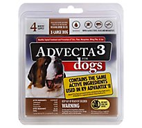Advecta 3 For Dogs Flea & Tick Treatment X Large Dog Over 55 Lbs - 4 Count