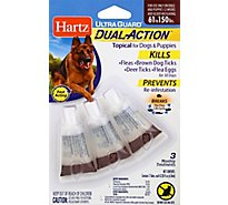 Hartz UltraGuard Topical For Dog & Puppies Dual Action 61 to 150 Lbs Blister Pack - 3 Count
