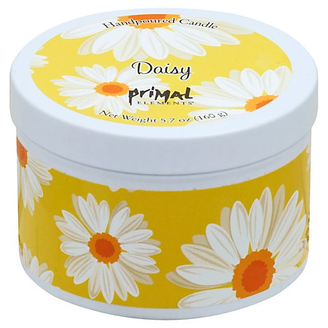 Daisy Tin Candle - 6 Oz