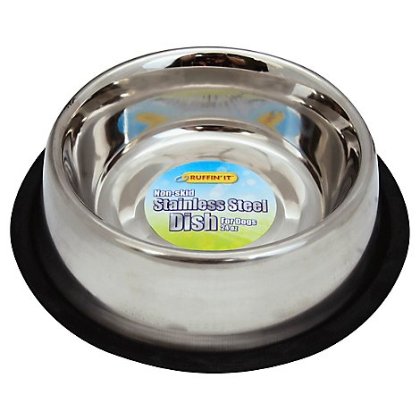 Ruffin It Dish Stainless Steel for Dogs 24 Ounces Not Packed - Each
