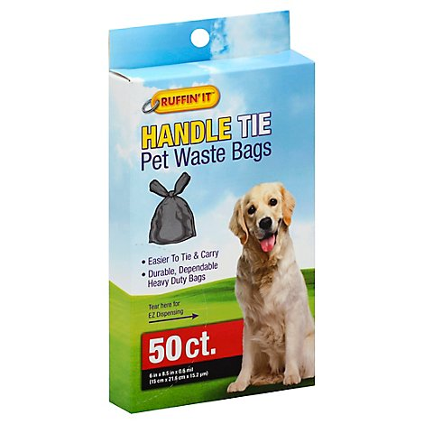 Ruffin It Pet Waste Bags Handle Tie Box - 50 Count