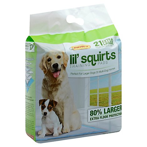 Ruffin It Lil Squirts Dog Training Pads Large Dogs Extra Large Bag - 21 Count
