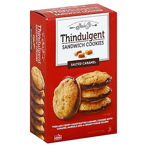 Sheila Gs Sandwich Cookies Salted Caramel Thindulgent - 6.5 Oz