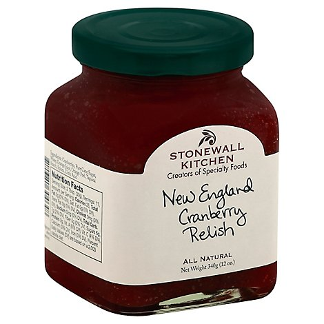 Stonewall Kitchen Relish New England Cranbery -13 Oz