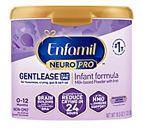 Enfamil NeuroPro Gentlease Infant Formula Milk Powder Brain Building Nutrition - 19.5 Oz