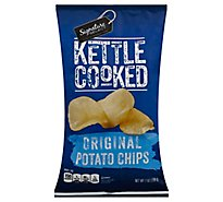 Signature SELECT Potato Chip Kettle Cooked Original - 7 Oz