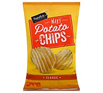 Signature SELECT Potato Chips Classic Wavy P65 - 8 Oz