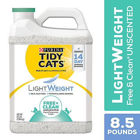 Tidy Cats Cat Litter Clumping LightWeight Free & Clean Unscented - 8.5 Lb