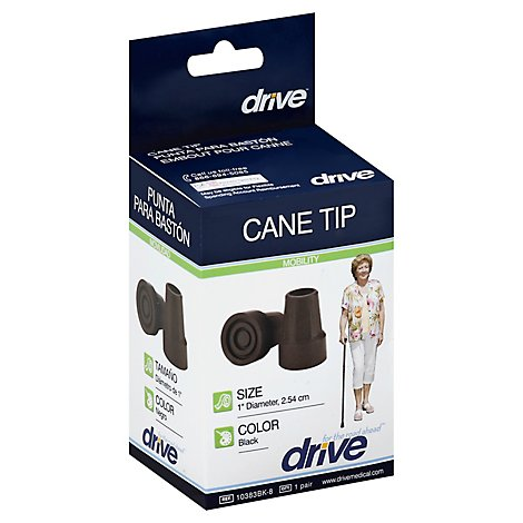 Drive Medical Cane Tip 1indiameter,8pr/Cs, - Each