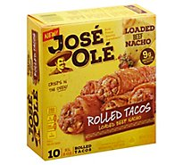 Jose Ole Loaded Beef Nacho Rolled Taco - 20 Oz