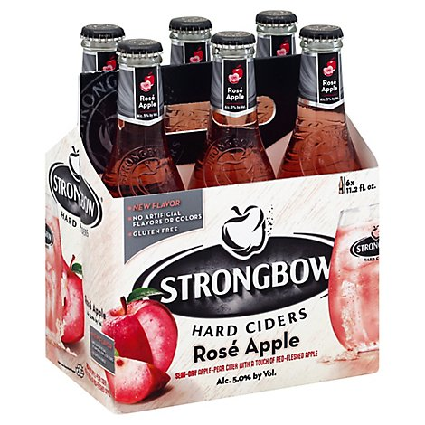Strongbow Cider Rose In Bottles - 6-11.2 Fl. Oz.