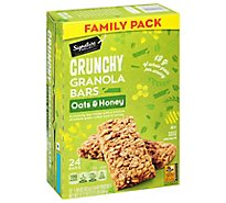 Signature Select Bars Granola Crunchy Oats & Hny Family Pack - 17.77 Oz