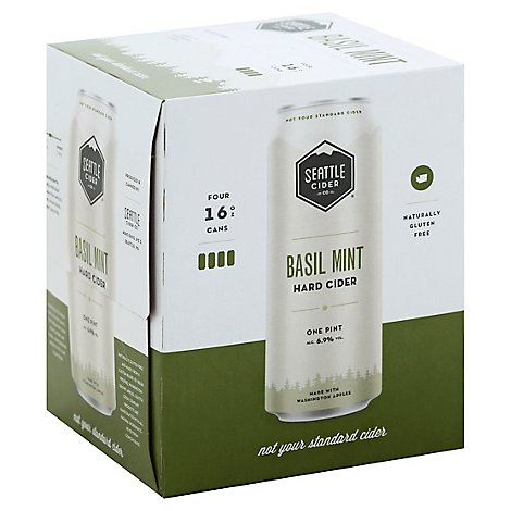 Seattle Cider Company Basil Mint In Bottles - 4-16 Fl. Oz.