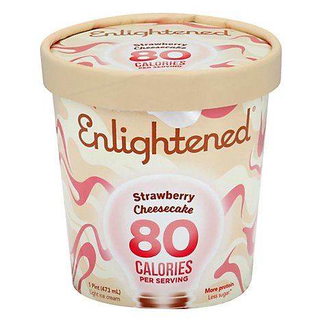 Enlightened Ice Cream Light Strawberry Cheesecake 1 Pint - 473 Ml
