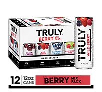 Truly Hard Seltzer Spiked & Sparkling Water Berry Variety 5% ABV Slim Cans - 12-12 Fl. Oz.