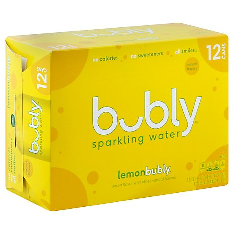 bubly Sparkling Water Lemon Cans - 12-12 Fl. Oz.