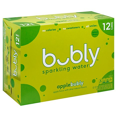 bubly Sparkling Water Apple Cans - 12-12 Fl. Oz.