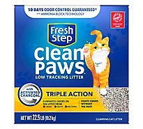 Fresh Step Clean Paws Triple Action Clumping Cat Litter Scented - 22.5 Lb